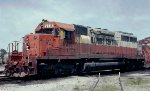 Illinois Central SD40A #6016 in East Thomas Yard 